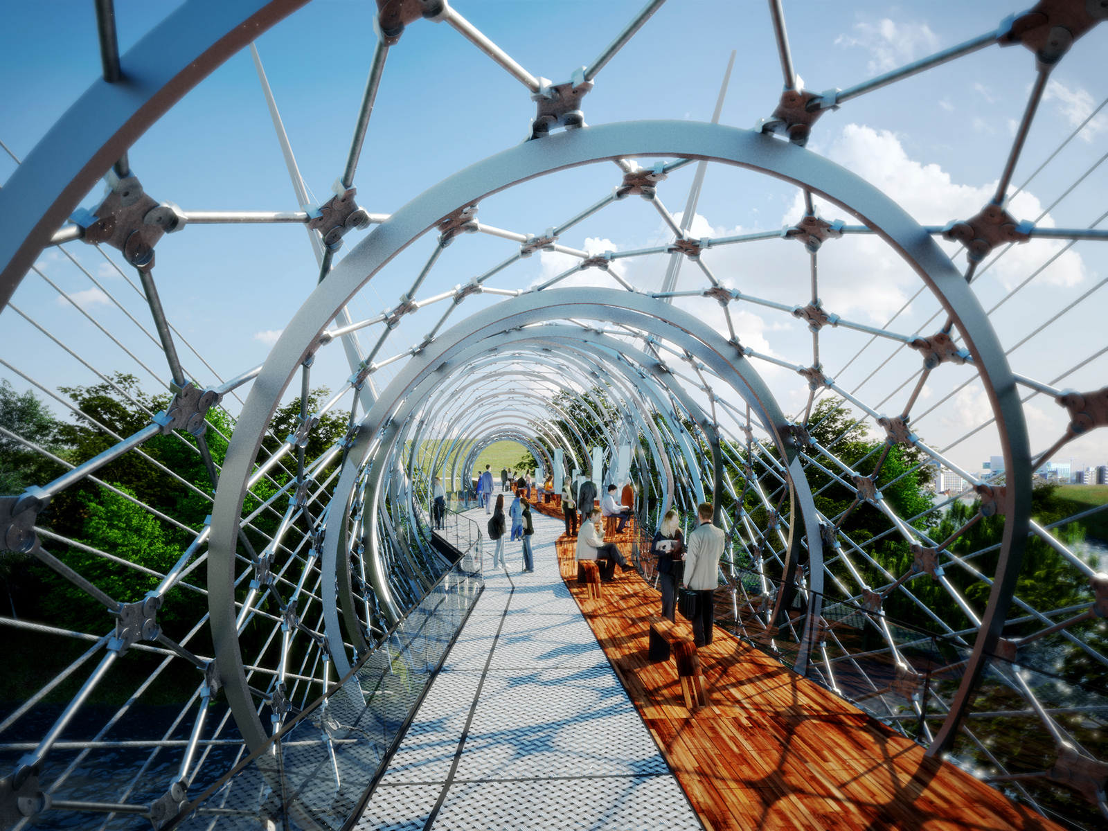 BM3 Architecture Has Submitted An International Design Competition Entry  For A Pedestrian Bridge In Salford, England Organised By The Royal  Institute Of ...